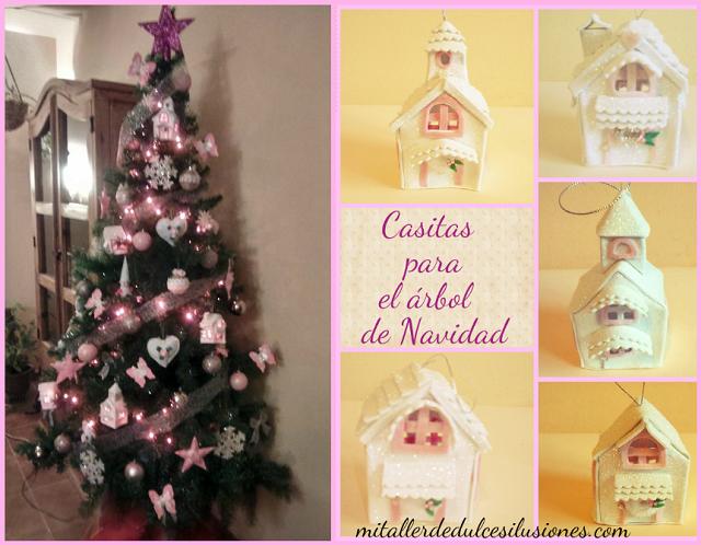 Mi taller de dulces ilusiones casitas para el arbol de - Casitas de navidad ...