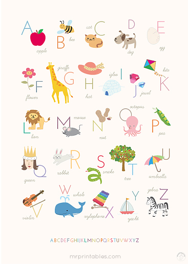 Universal image for alphabet poster printable