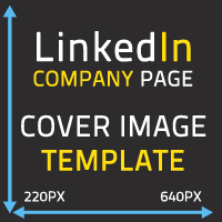 Linkedin company page cover image template