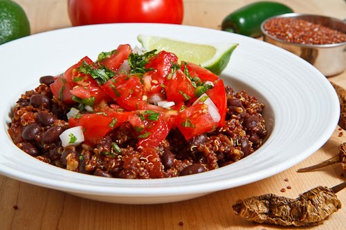 Mexican Quinoa and Beans with Pico de Gallo on Closet Cooking