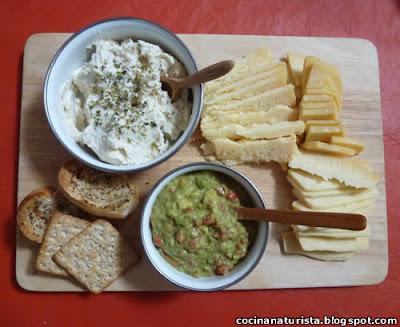 cocina naturista,comida natural,picada natural,tapeo natural,queso crema
