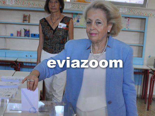 Στη Χαλκίδα ψήφισε η υπηρεσιακή Πρωθυπουργός Βασιλική Θάνου (ΦΩΤΟ & ΒΙΝΤΕΟ)