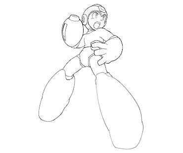 #9 Mega Man Coloring Page