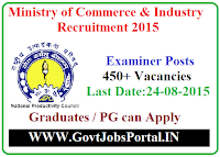 Ministry of Commerce Recruitment 2015