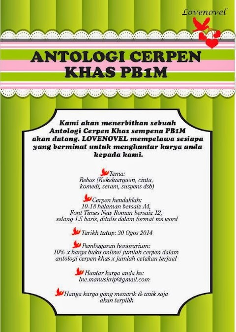 LOVENOVEL Publication : Antologi Cerpen Khas PB1M