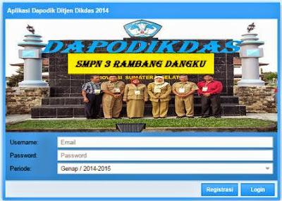 gambar tampilan login dapodikdas 302
