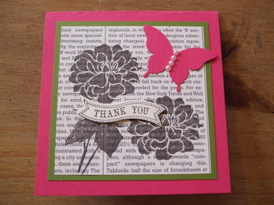 Stampin' Up! Melon Mambo, Fabulous Florets