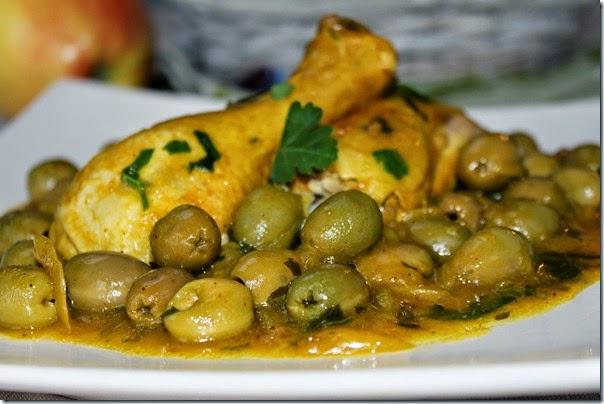 poulete ou olive recette cuisine samira