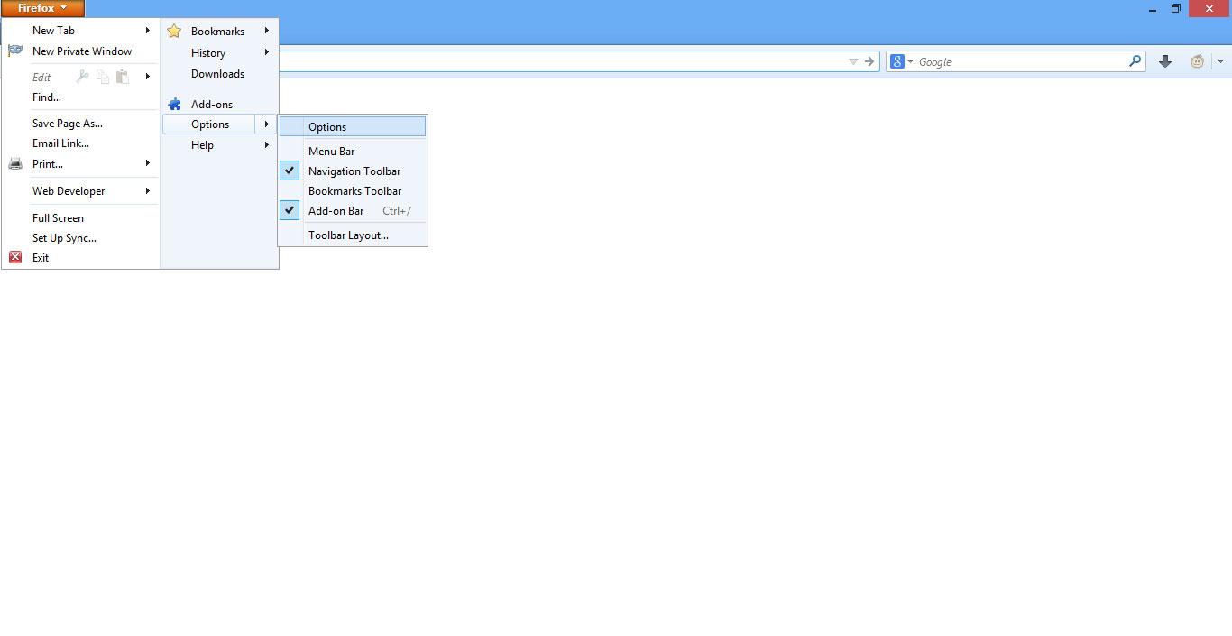 Cara Mengubah Halaman Awal Mozilla Firefox versi 28 gambar 2