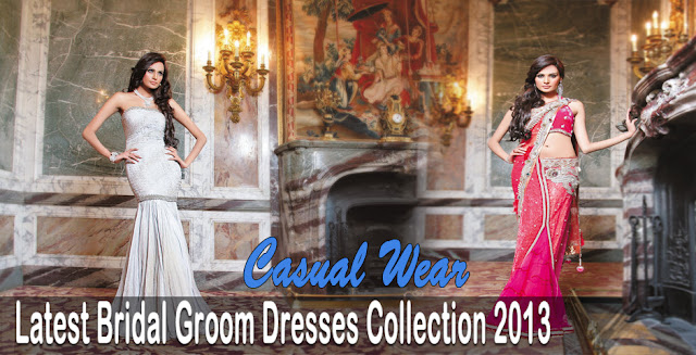 Latest Bridal Groom Dresses Collection 2013