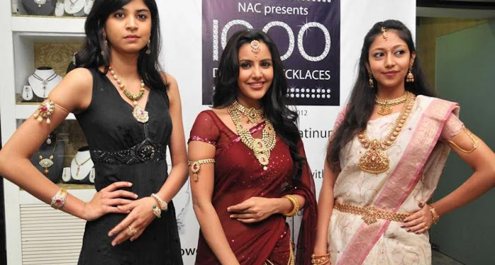 priya anand in saree at nac ewellers for 1000 diamond necklaces festival event- hot photoshoot