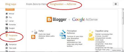 Menampilkan Tab Penghasilan (Earning) AdSense