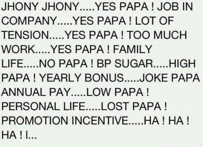 Funny Jhony Jhony Yes papa Poems