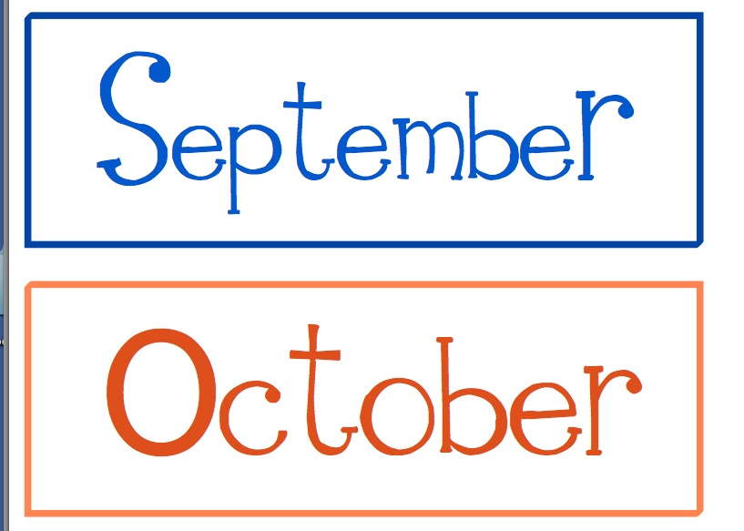 months of the year in different colors click to get all of the months ...