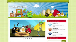 Free Template Angry Birds