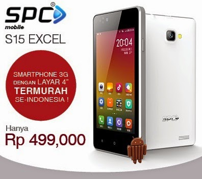 SPC S15 Excel Smartphone Android Murah Rp 499 Ribu
