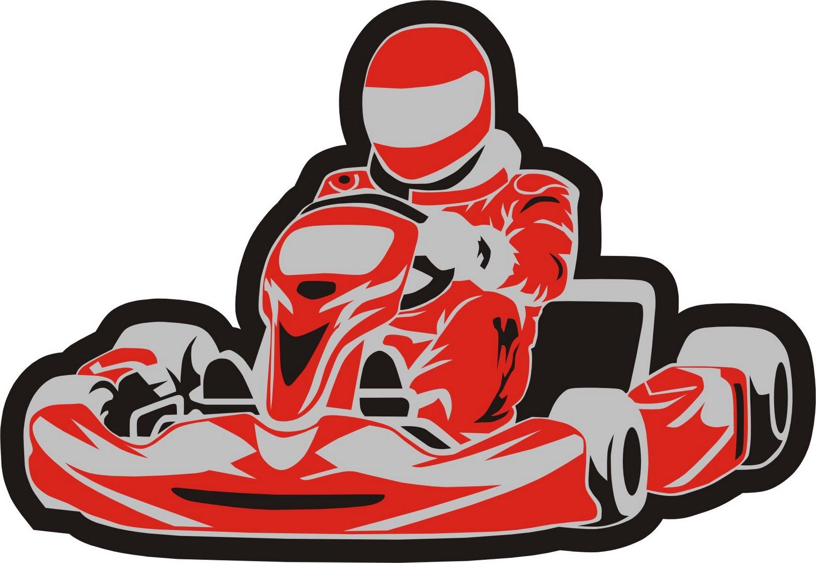 Go Kart Vinyl GraphicsCheckered Flag Rip Graphic Decal