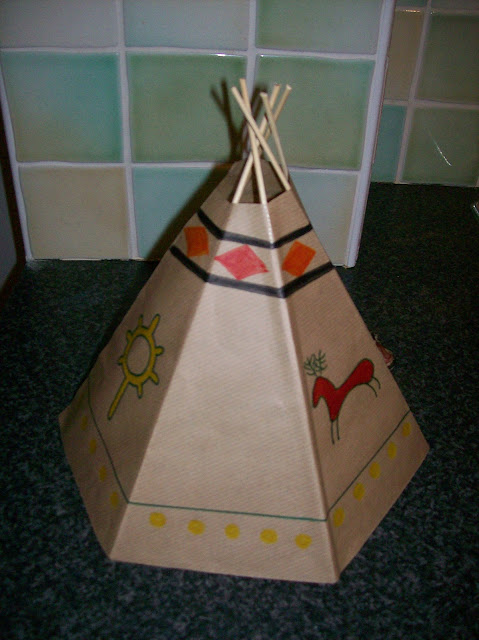 how to build a model teepee school project