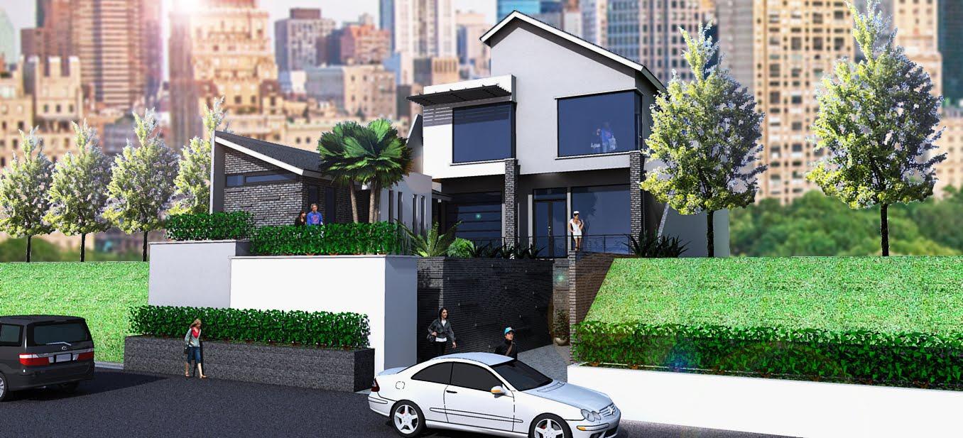 rumah mewah dengan konsep minimalis rancangan rumah dan
