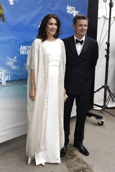 Crown Princess Mary and Crown Prince Frederik of Denmark attended the Annual Reumert Award 2015 Presentation