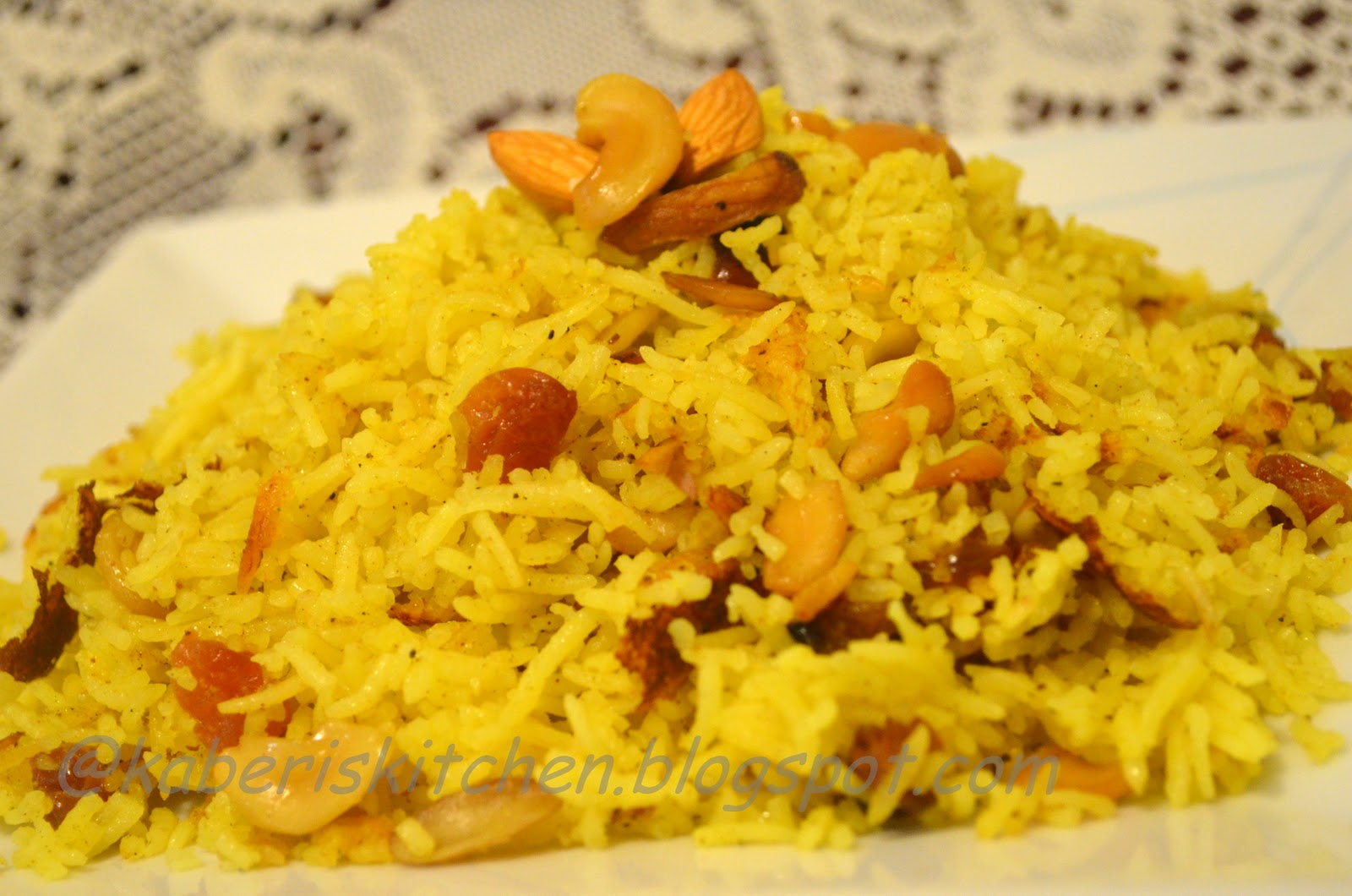 you can remove mint leaves too zafrani pulao saffron rice
