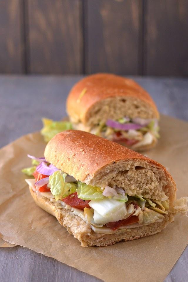 Vegetarian Hoagie Sandwich