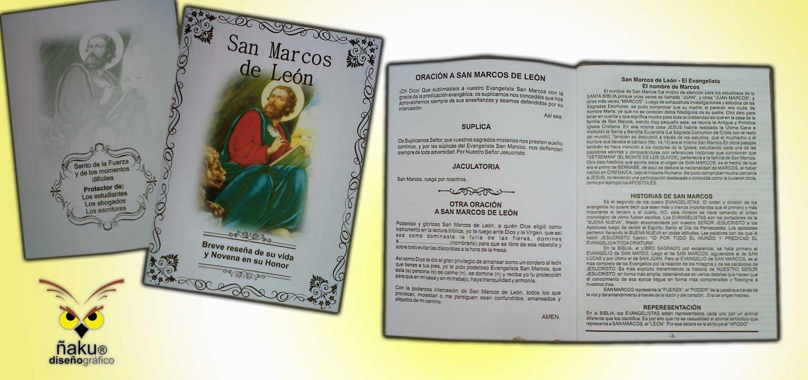 Ñaku Diseño Gráfico: Libro y estampas grande y pequeña de San Marcos ...