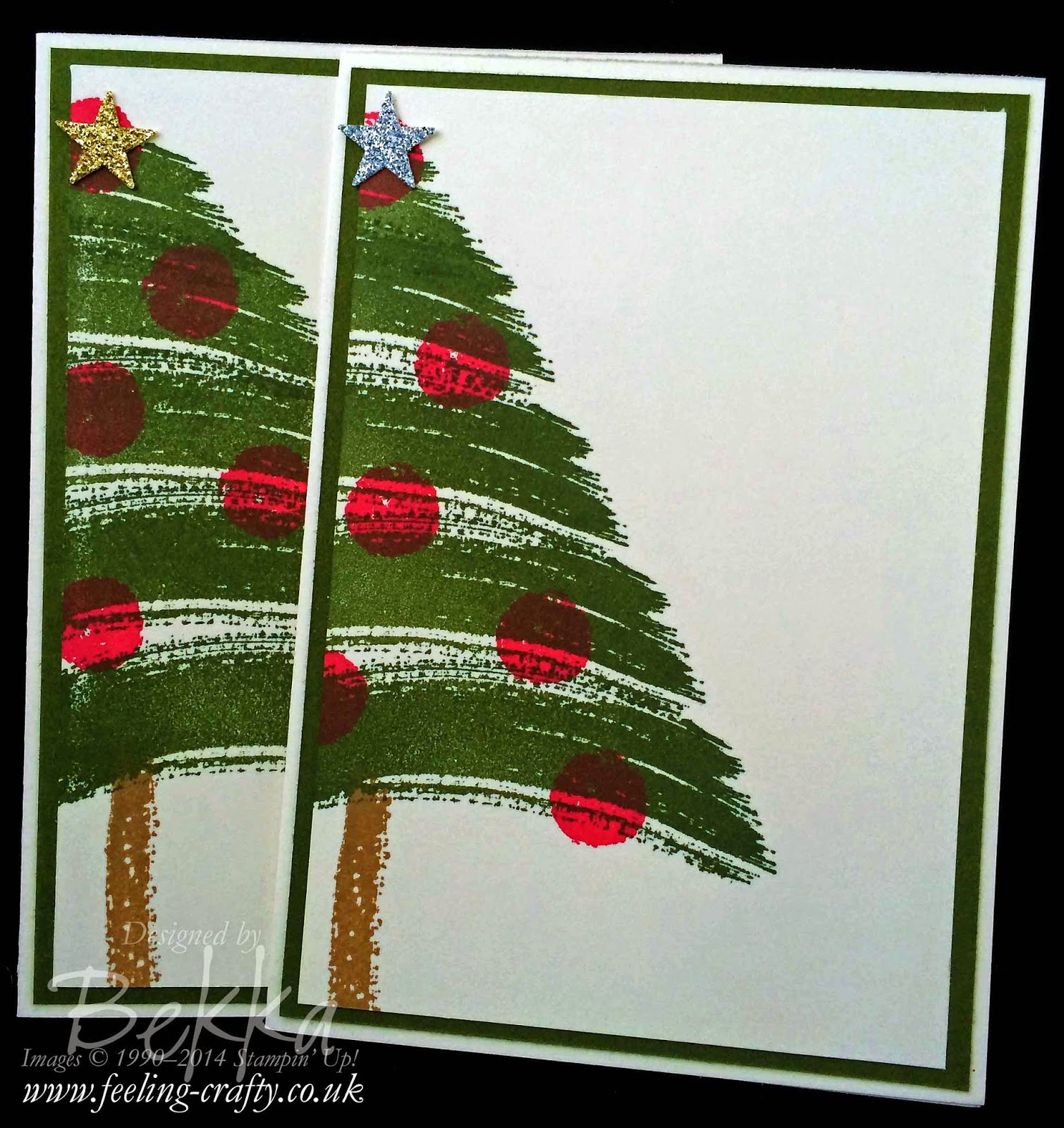 Quick and Easy Christmas Card using the Work of Art Stamp Set by Stampin' Up! UK Independent Demonstrator Bekka Prideaux - check out the video!
