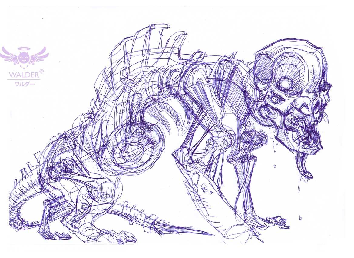 monster sketche