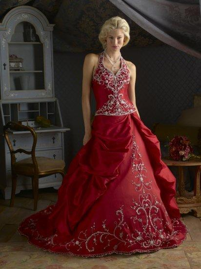 Red Dress Wedding Outfit : Elegant bridal style beautiful red wedding dress