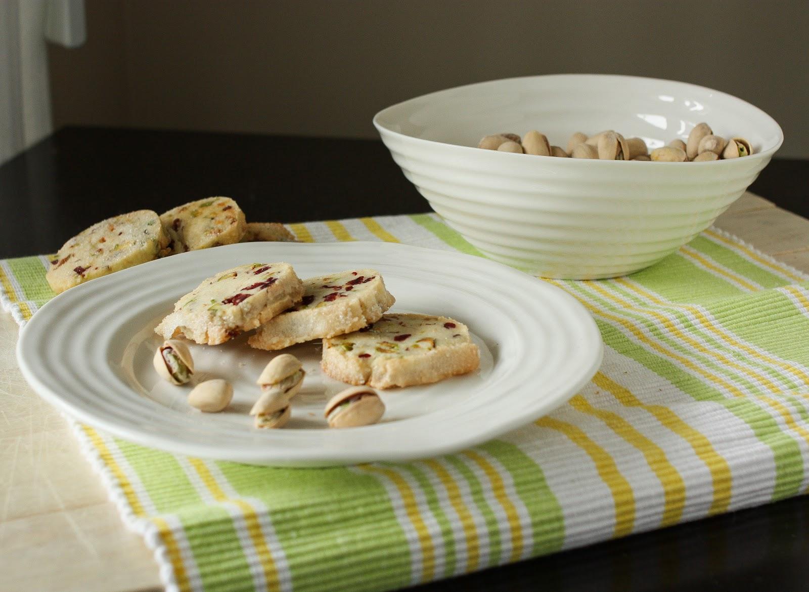 Joie Patisserie: Pistachio Cranberry Icebox Cookies for SRC!
