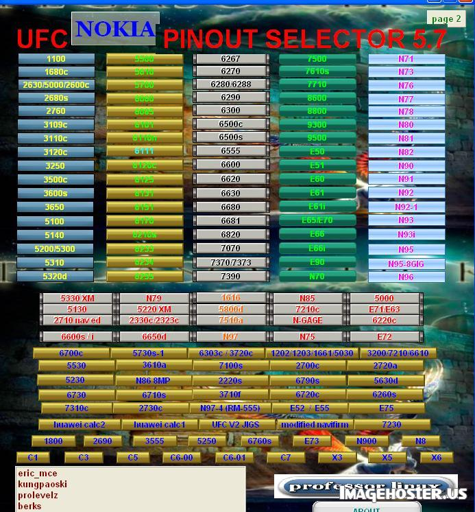 Ufc Pinout Selector 5 7 Updated