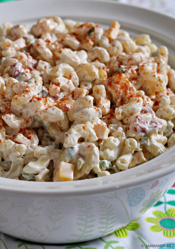 This pasta salad uses a special ingredient, a spicy pickle relish we ...