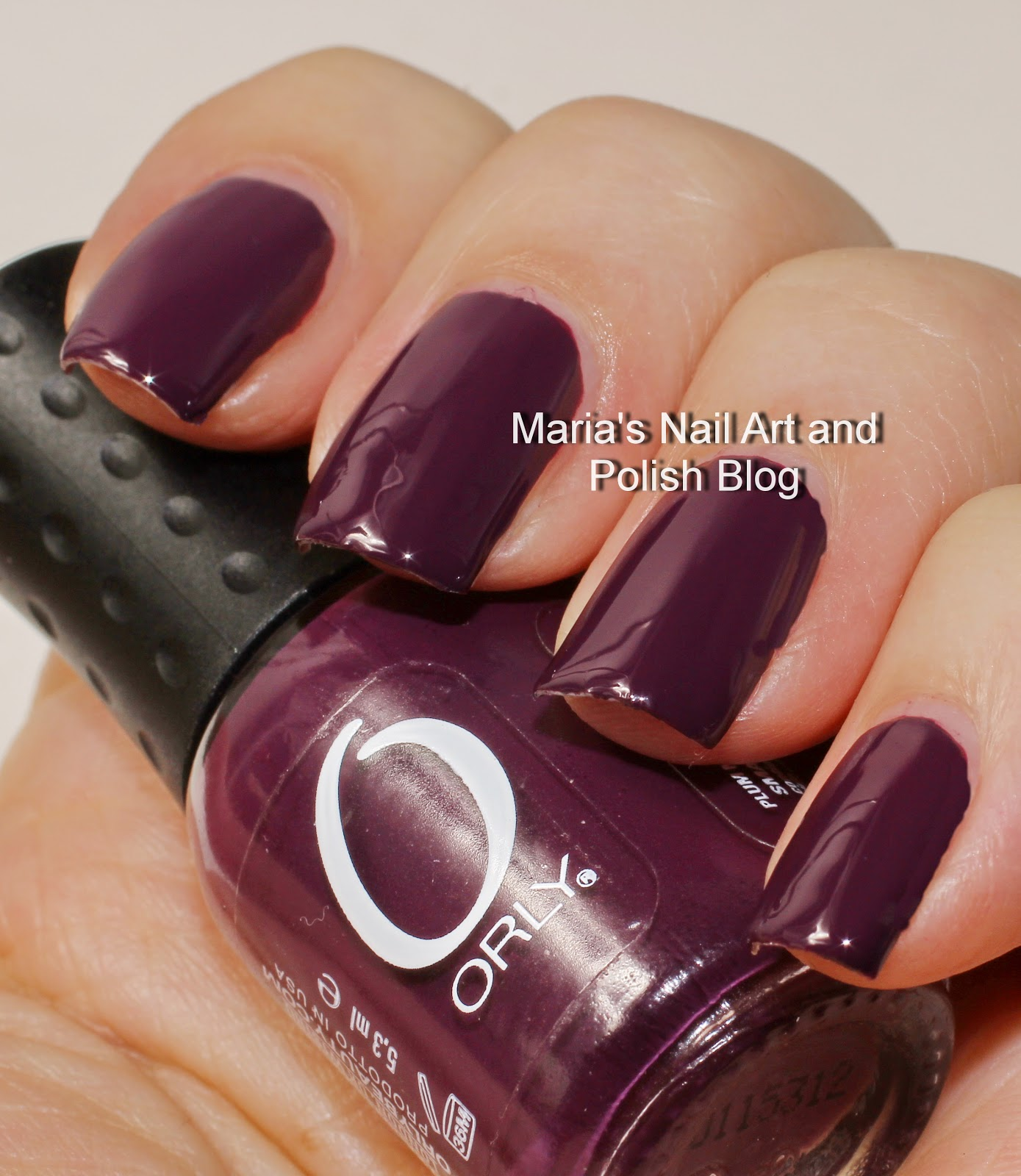 Marias Nail Art and Polish Blog: Orly Monroe\'s Red and Plum Noir ...