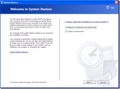 Cara Merestore System di Windows