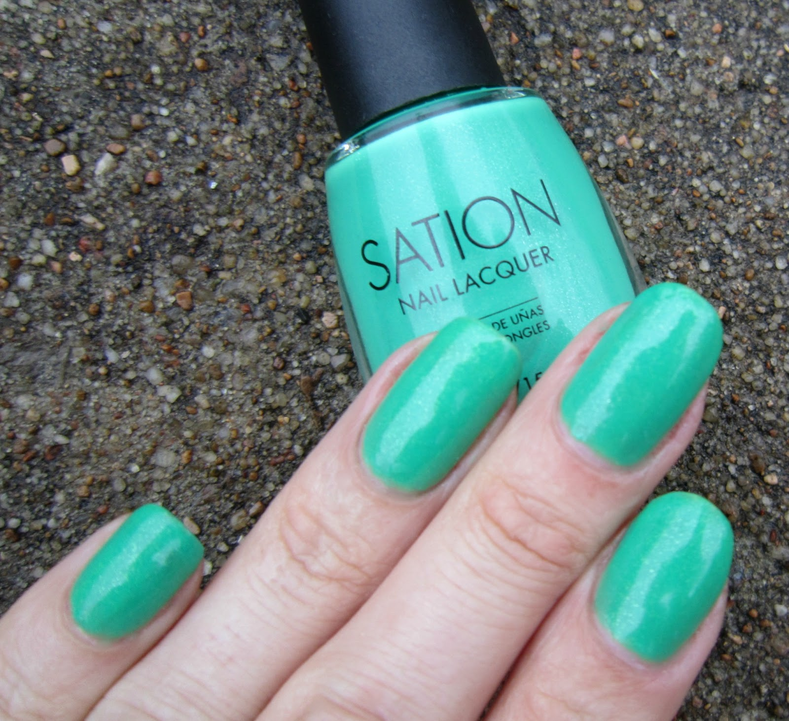 Sation Nail Polish: Concrete And Nail Polish: Sation Plenty Of Frogs