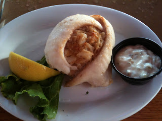 Dockside Restaurant and Marina Stuffed Flounder