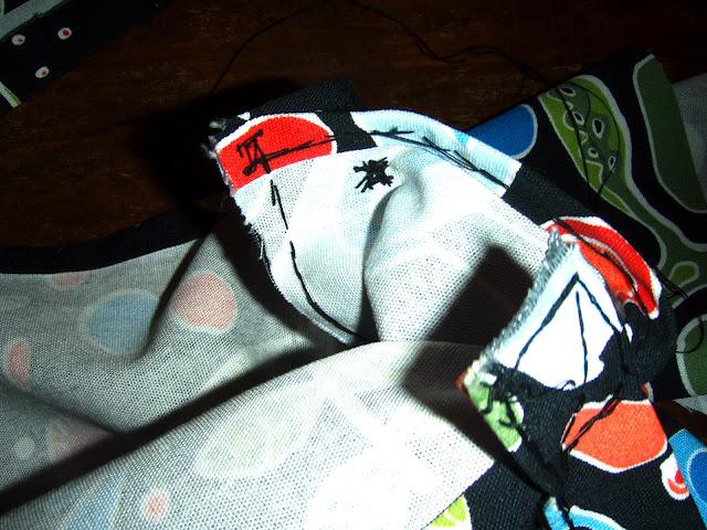 ikea fabric bag hand sewed