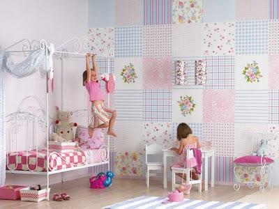 tecido em parede para quarto infantil