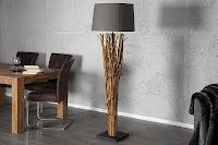 luxusná dizajnova lampa v kombinacii s drevom