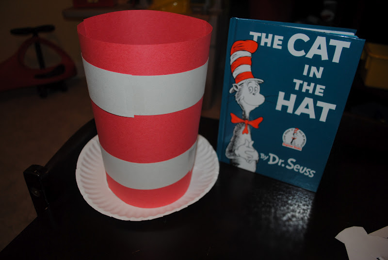 We used a paper plate for the bottom of the hat instead of construction paper. Make sure to focus on the red and white pattern as you are making it! & Oh The Thinks You Can Think!: Thinking Theme: Dr. Seuss