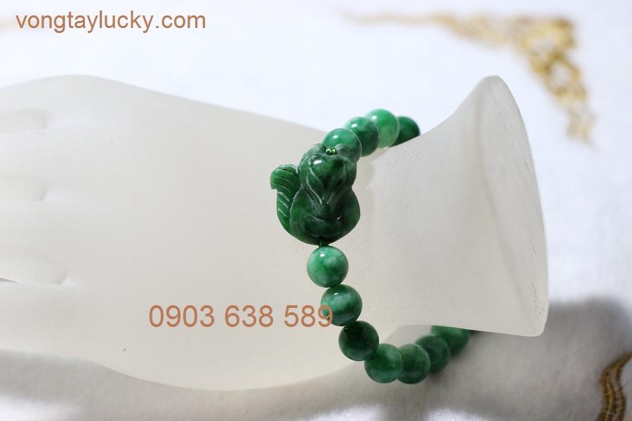Vòng tay hồ ly 9 đuôi đá cẩm thạch (ngọc thủy phí)