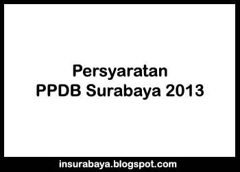 Persyaratan PPDB Surabaya 2013
