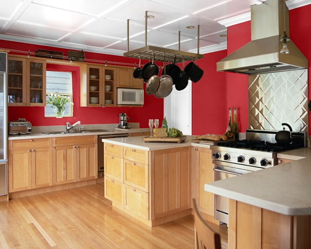 Making your home sing red paint colors for a kitchen - Color schemes for kitchens ...