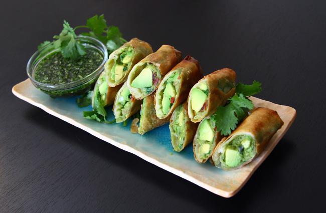 Avocado Eggrolls Recipe :: Vegan rolls – Ann Le Style