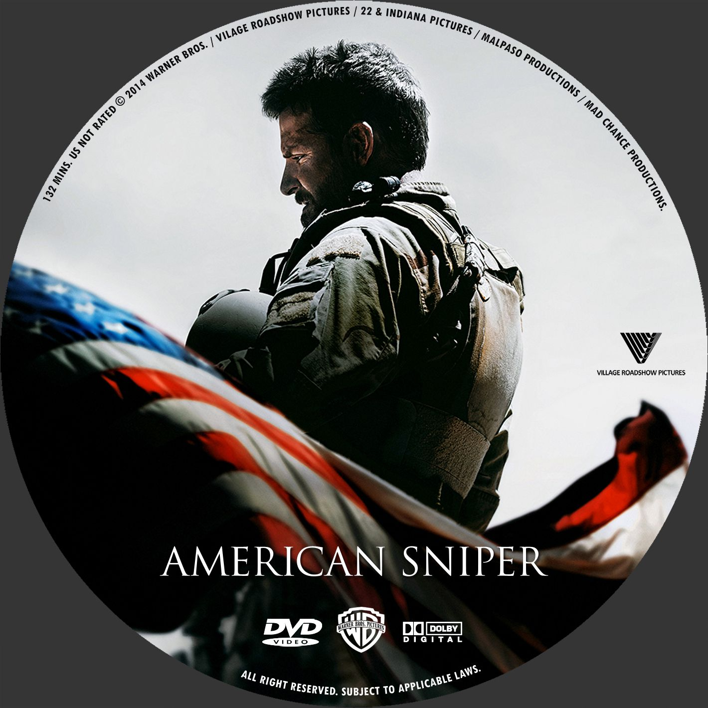 Label DVD American Sniper