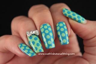 polka dot nail art sinful colors savage mint apple