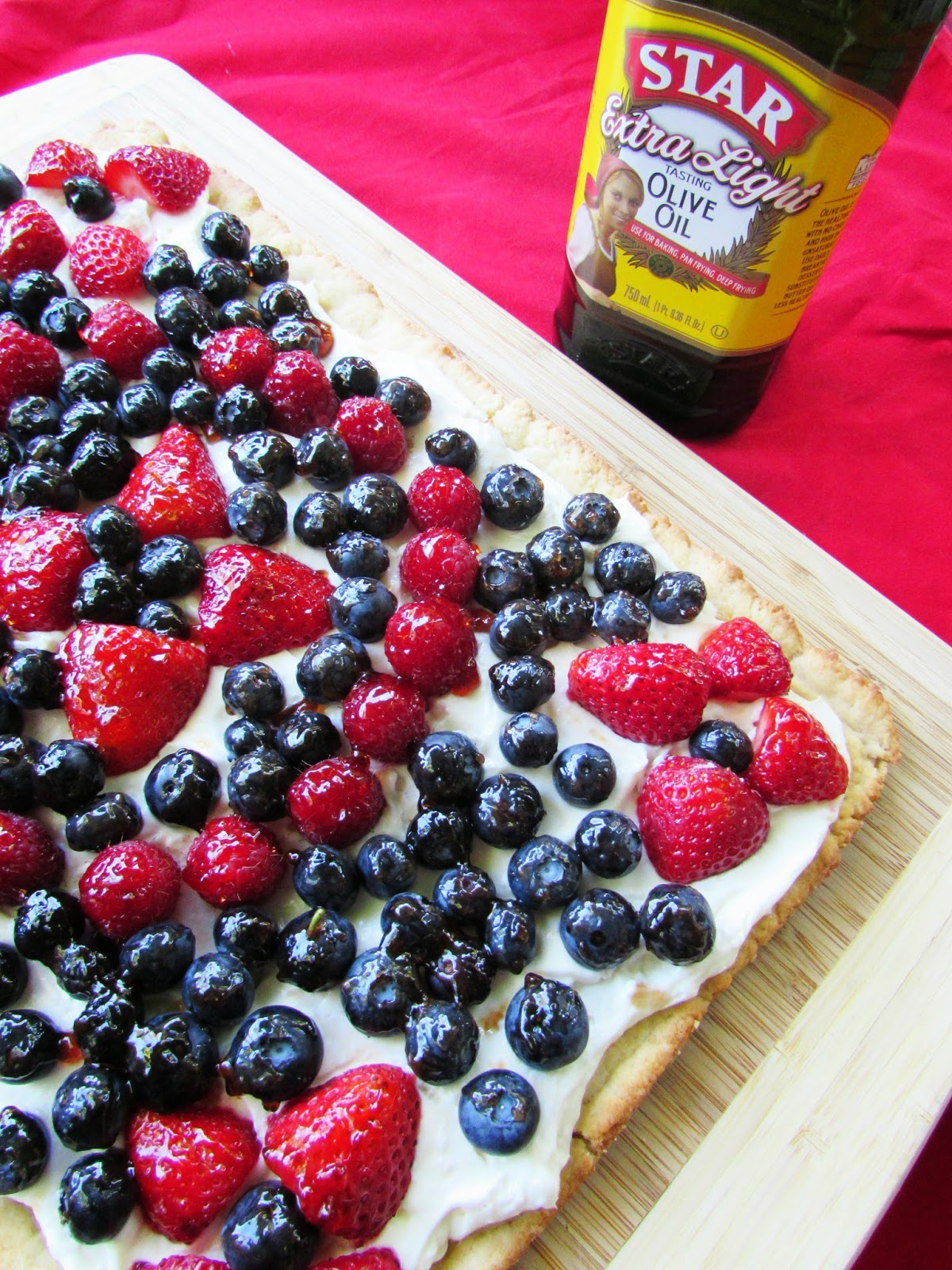 Red, White and Blue Easy Fruit Tart