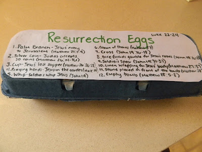 Make some Resurrection Eggs with your child to reuse year after year