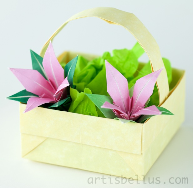 Origami artis bellus origami decoration summer basket mightylinksfo Choice Image